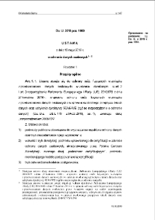 Ustawa z dnia 10 maja 2018 r. o ochronie danych osobowych