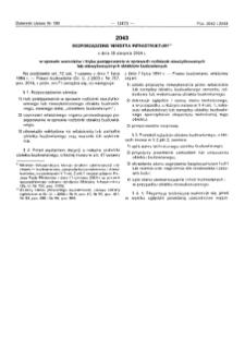 Rozporządzenie Ministra Infrastruktury z dnia 30 sierpnia 2004 r. w sprawie warunków i trybu postępowania w sprawach rozbiórek nieużytkowanych lub niewykończonych obiektów budowlanych