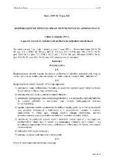 Rozporządzenie Ministra Spraw Wewnętrznych i Administracji z dnia 16 sierpnia 1999 r. w sprawie warunków technicznych użytkowania budynków mieszkalnych.