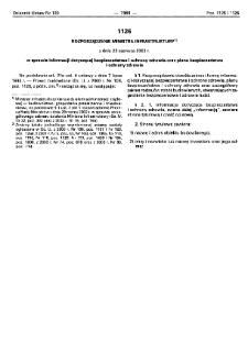 Rozporządzenie Ministra Infrastruktury z dnia 23 czerwca 2003 r. w sprawie informacji dotyczącej bezpieczeństwa i ochrony zdrowia oraz planu bezpieczeństwa i ochrony zdrowia